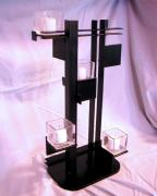 Featured Sculptures - De Stijl Candle Holder three quarter view by John Gibbs
