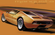 Automobile Artwork. Prints - De Tomaso Mangusta Print by Uli Gonzalez