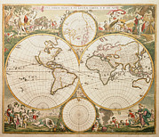Cartography Photos - De Wits Atlas Of 1689 by George Bernard