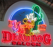 Restaurant Sign Prints - Dead Dog Saloon Print by Suzanne Gaff
