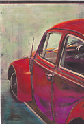 Volkswagen Pastels Prints - Dead End Print by Sharon Poulton