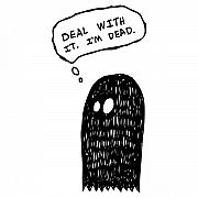 Scary Drawings Prints - Dead Ghost Print by Karl Addison