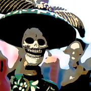 Mexican Holiday Prints - Dead Head Print by Glennis Siverson