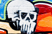 Grunge Skull Paintings - Dead Head spray-paint by Yurix Sardinelly