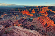 Orange Sky Framed Prints - Dead Horse Point Framed Print by Lorenzo Marotti Campi