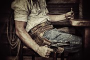 Pistol Photo Posters - Dead mans hand Poster by Shad Kingston
