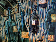 Wine Painting Originals - Dead Soldiers by Sean Hagan