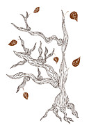 Nature Drawings Metal Prints - Dead wood Metal Print by Frank Tschakert