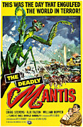 1950s Movies Art - Deadly Mantis, The, Alix Talton, Craig by Everett