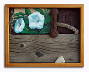 Weathered Wood Sculpture Prints - Deadly Nightshade Print by Snake Jagger