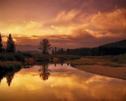 Deadwood Framed Prints - Deadwood River Sunrise Framed Print by Leland Howard