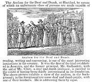 Deaf And Dumb School, 1842 Print by Granger