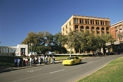 Recreational Structures Prints - Dealey Plaza, Book Depository And Site Print by Richard Nowitz