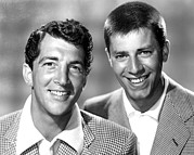 Dean Framed Prints - Dean Martin And Jerry Lewis, C. Early Framed Print by Everett