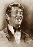 Rat Pack Art - DEAN MARTIN br by Ylli Haruni