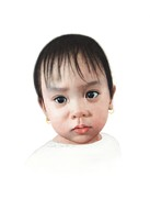Portrait Paintings - Deanna 2 years by Conrad Mieschke