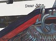 Ribbon Prints - Dear John  Print by Barb Pearson