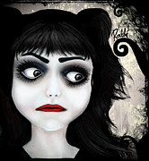Dark Digital Art - Dear little doll series... EUGENIA by Rouble Rust