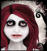 Hair Digital Art - Dear little doll series... ROUBLE by Rouble Rust