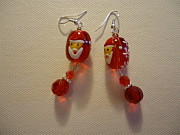 Red Jewelry Originals - Dear Santa Earrings by Jenna Green
