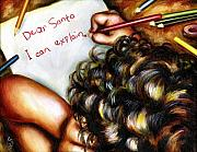 Family Love Painting Posters - Dear Santa Poster by Hiroko Sakai