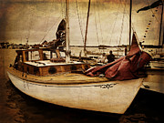 Wooden Boat Prints - Dear Santa ... Print by Jan Pudney