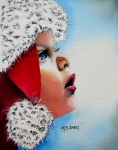 Portrait Paintings - Dear Santa by Maria Barry