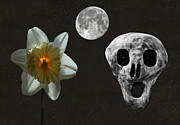 Olive Wood Sculpture Posters - Death And The Daffodil  Poster by Eric Kempson