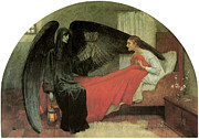 Victorian Era Prints - Death and the Maiden Print by Marianne Stokes