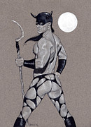 Male Nudes Drawings Prints - Death Dealer Print by Chance Manart