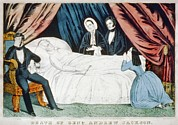 Lithographs Photos - Death Of Former President Andrew by Everett