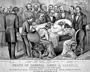 James Garfield Framed Prints - Death Of Garfield, 1881 Framed Print by Photo Researchers