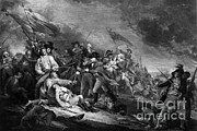 J.g Framed Prints - Death Of General Warren, 1775 Framed Print by Omikron