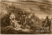J.g Framed Prints - Death Of General Warren, 1775 Framed Print by Photo Researchers