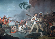 Carter Art - Death Of James Cook, English Explorer by Photo Researchers
