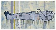 Drips Paintings - Death of journalism by Ruben  Ubiera