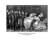 Emancipation Proclamation Drawings Prints - Death Of President Lincoln Print by War Is Hell Store