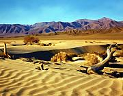 Sand Dunes Digital Art Posters - Death Valley Poster by Kurt Van Wagner