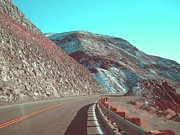 Snow. Mountain Photos - Death Valley Road 2 by Irina  March