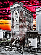 Lafayette Digital Art Prints - Death Waits In A New Orleans Cemetery Print by James Griffin