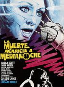 Spanish Poster Art Posters - Death Walks At Midnight, Aka La Morte Poster by Everett