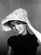 Feathered Hat Posters - Debbie Reynolds, 1956 Poster by Everett