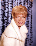 Fur Coat Framed Prints - Debbie Reynolds Framed Print by Everett