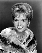 Fur Stole Prints - Debbie Reynolds In The 1960s Print by Everett