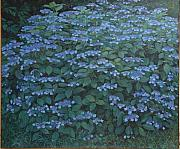 James Sparks Paintings - Debis Hydrangea by James Sparks