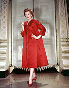 Red Dress Posters - Deborah Kerr, 1956 Poster by Everett