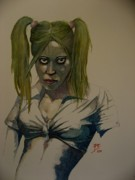 Vampire Paintings - Deborah the Vampire by Ray Agius