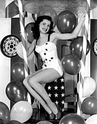4th July Photo Framed Prints - Debra Paget, Age 16, Strikes Framed Print by Everett