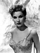 1950s Portraits Framed Prints - Debra Paget, Ca. Mid-1950s Framed Print by Everett