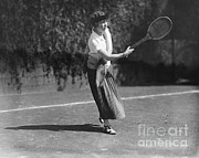 Lawn Tennis Framed Prints - Debutante Playing Tennis, 1924 Framed Print by Photo Researchers
